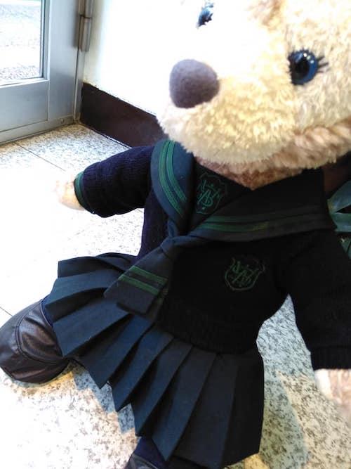 西南学園の学生服の人形ミニチュア