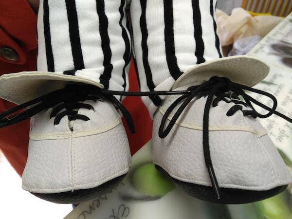 人形の靴を作成