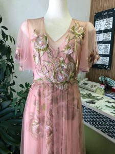 ドレスの裾のライン修正