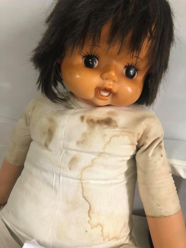 修理前の人形